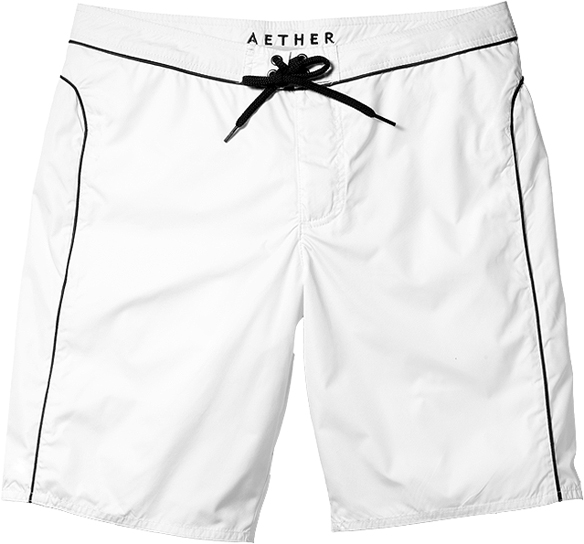 "Aether Piping 9¾"" swim trunks 