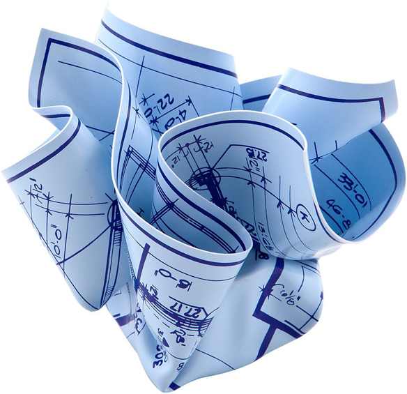 Architect's Blueprint Paperweight | GregoryWest